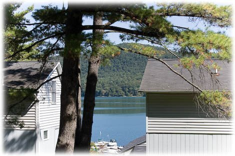 Lake view from the front porch